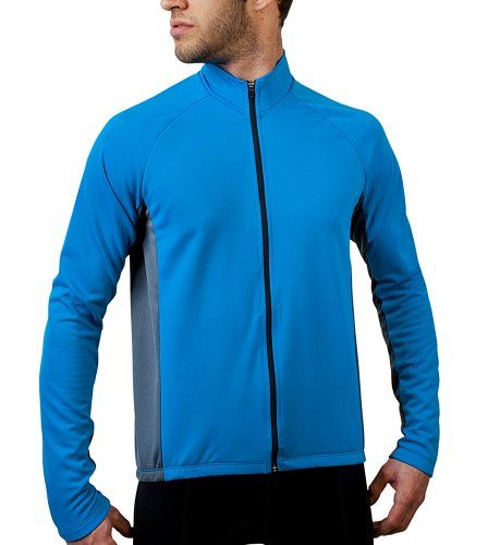 be7a9dc74 Men s Formaggio Long Sleeve Fleece Cycling Jersey Full Zippered front with  three back pockets.