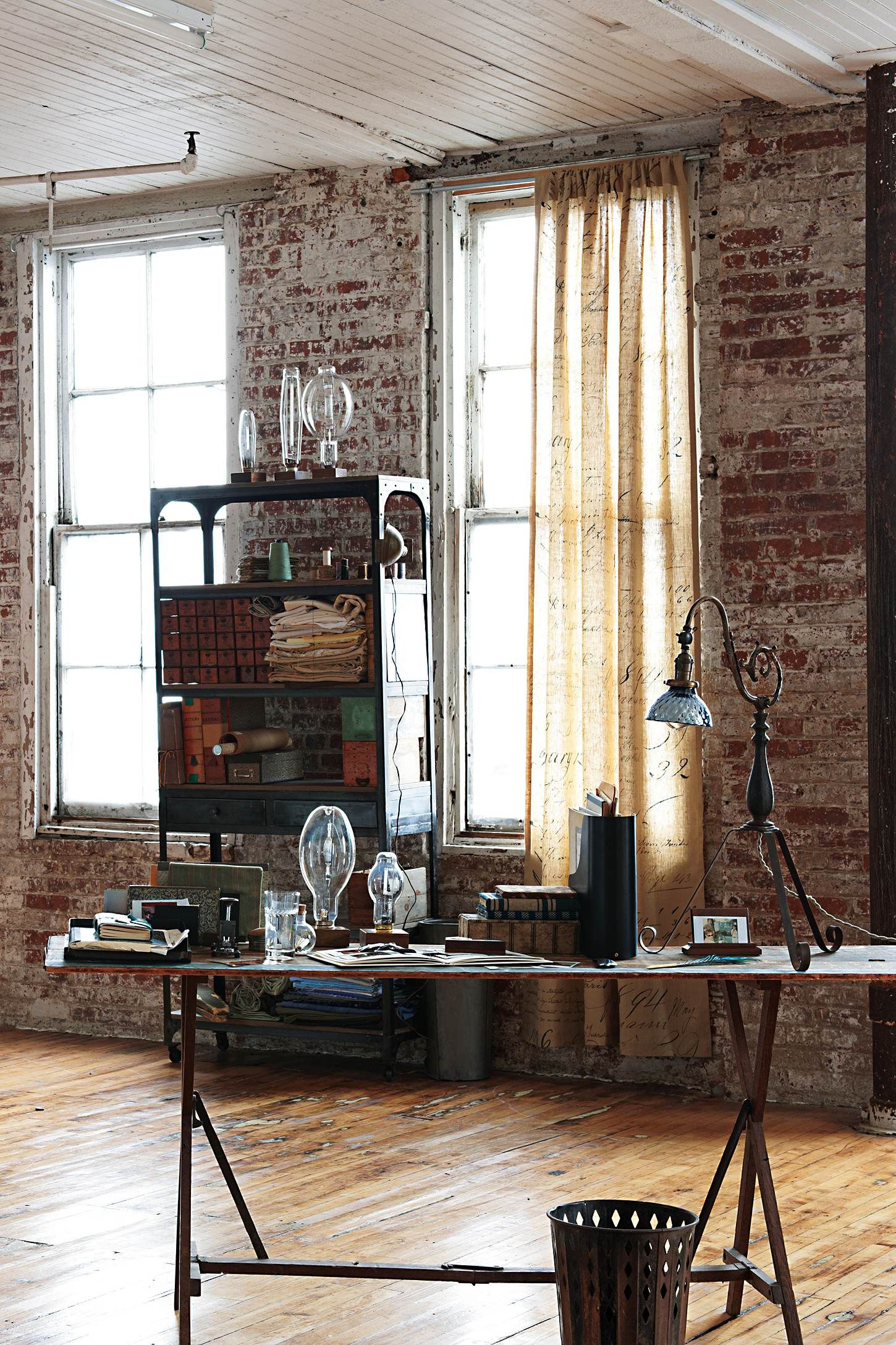 industrial style office. Another Man\u0027s Treasure Lamp. Industrial Interior DesignIndustrial InteriorsIndustrial StyleIndustrial Style Office C