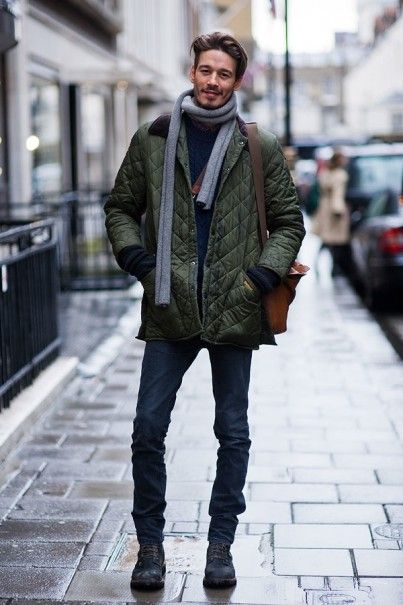 「how to wear quilted coat mens」の画像検索結果