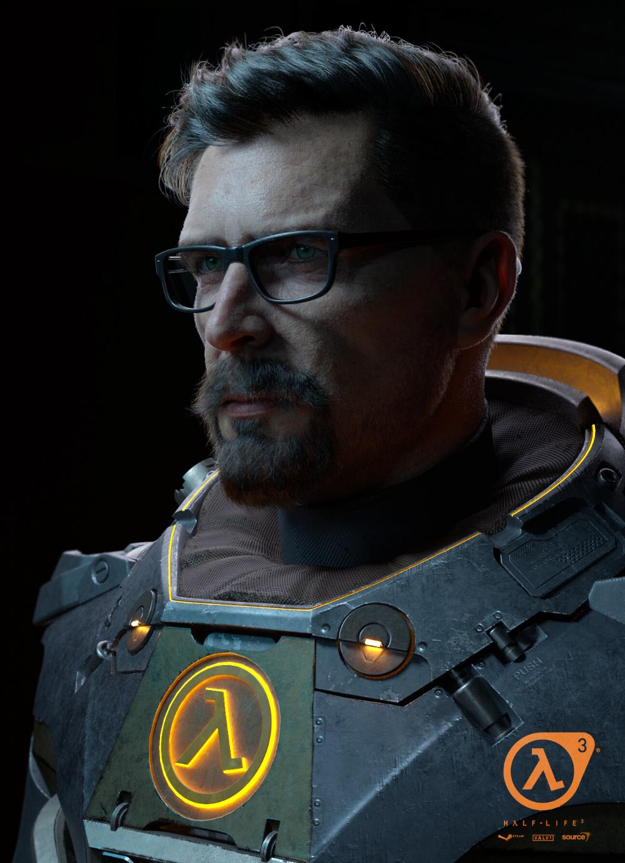 Artstation Gordan Freeman Fan Art Andrey Gritsuk Half Life Game Gordon Freeman Freeman