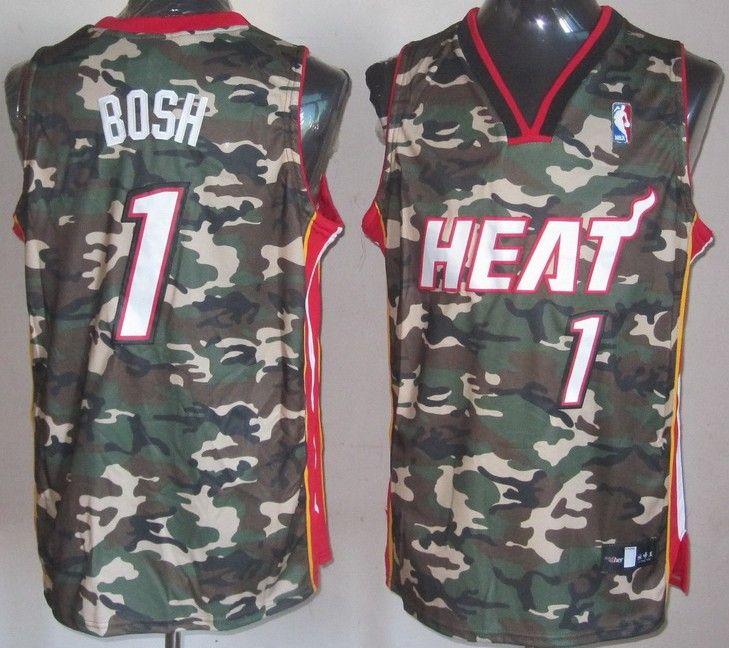 ae55d3eac1a NBA Miami Heat 1 Chris Bosh Swingman Fashion Camouflage Camo Jersey  21.99