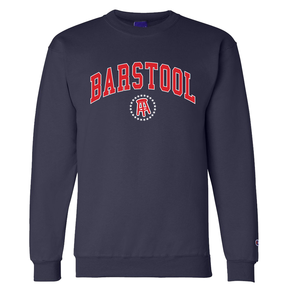 Barstool Crewneck Sweatshirt Navy 50 Cotton 50 Polyester Shipping This Item Typically Ships In Sweatshirts Crew Neck Sweatshirt Long Sleeve Tshirt Men [ 1000 x 1000 Pixel ]