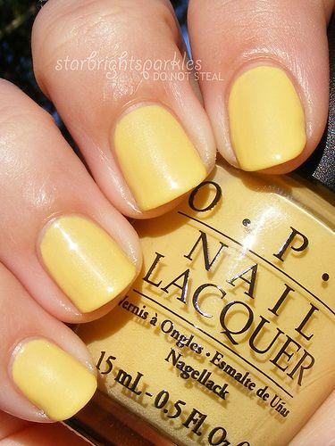 Opi Banana Bandana Cute Summer Color Nails Nail