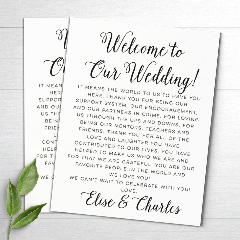 40 Wedding Hotel Letter Template in 2020 Wedding