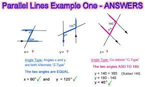 Interior and exterior angles in parallel lines lymoore also jasmine cobb on pinterest rh