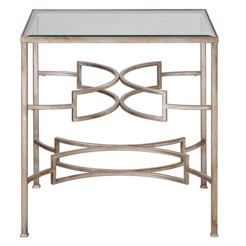 Photo of Uttermost Eilinora Silver End Table
