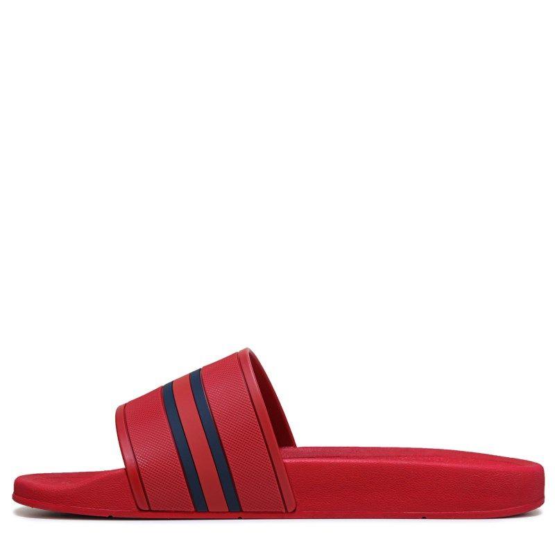 239d13ccb34f48 Tommy Hilfiger Men s Ennis Slide Sandals (Tommy Red Multi)