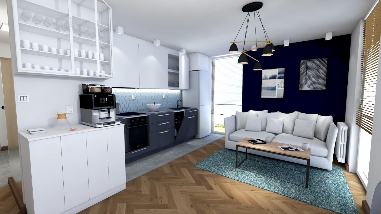 Salon Living Room Nowoczesny Projekt Salonu Z Aneksem