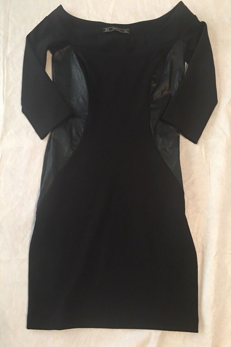12 00 Zara Trafalud Little Black Dress Size Small Woman S Womans Tshirts Beach Over30