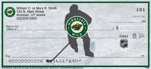 Go Wild For Your Favorite Hockey Team With These Minnesota Wild Personal Checks From Bradford Exchange Checks Minnesota Wild Personal Checks Minnesota