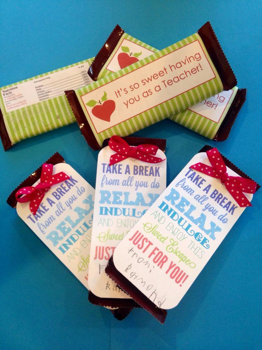 Teacher Appreciation, Dove Chocolate Bars, yum!!! | Teacher ...