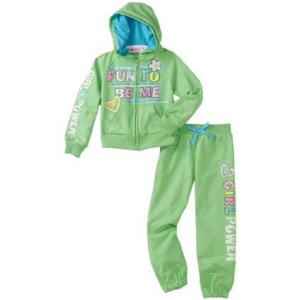 Young Hearts Baby-Girls Infant Power Hoodie Set $23.80