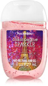 Champagne Sparkle Pocketbac Sanitizing Hand Gel Soap Sanitizer