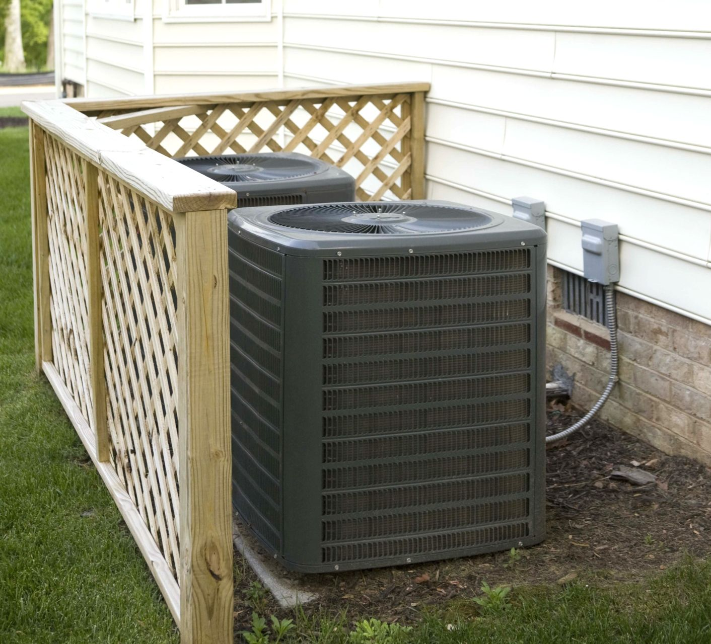 clearing away all leaves and debris from your ac condenser unit is