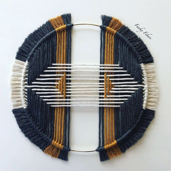 Tribal design macrame – macrame wall hanging – hoop macrame – boho home decor – macrame hoop – tribal designs – FunkyFibersMN