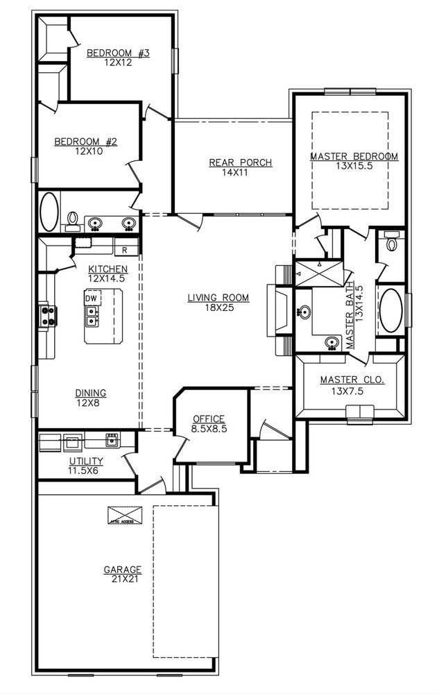 The Flamingo 1935sf New House Plans House Floor Plans Dream House Plans