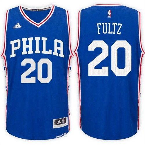 eb5ad7525f2 Men s Philadelphia 76ers  20 Markelle Fultz Blue Swingman Jersey ...