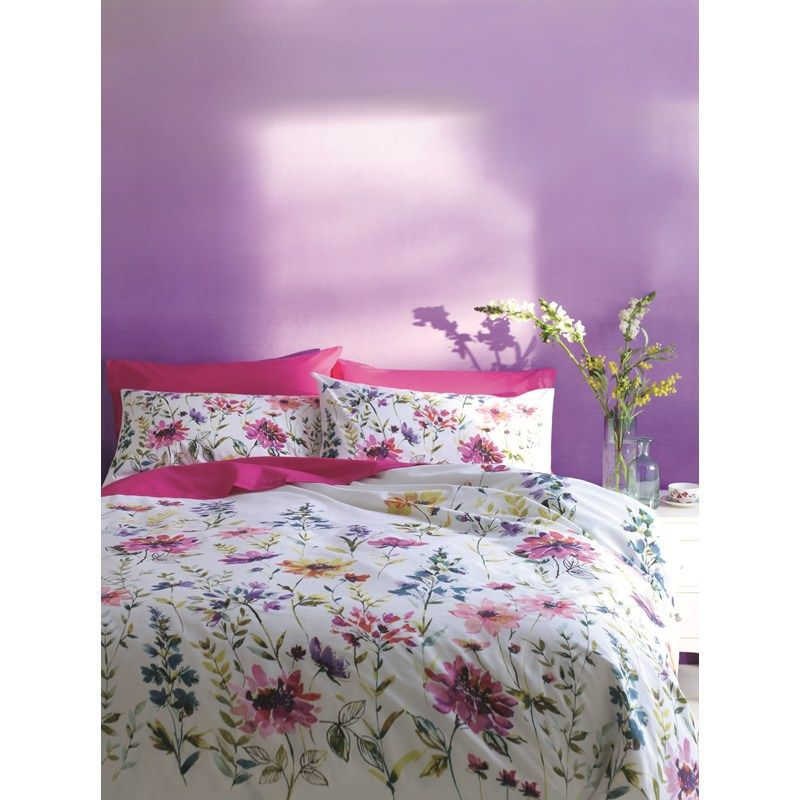 Purple Wall With Fuchsia And Floral Bedding M Summer 2013
