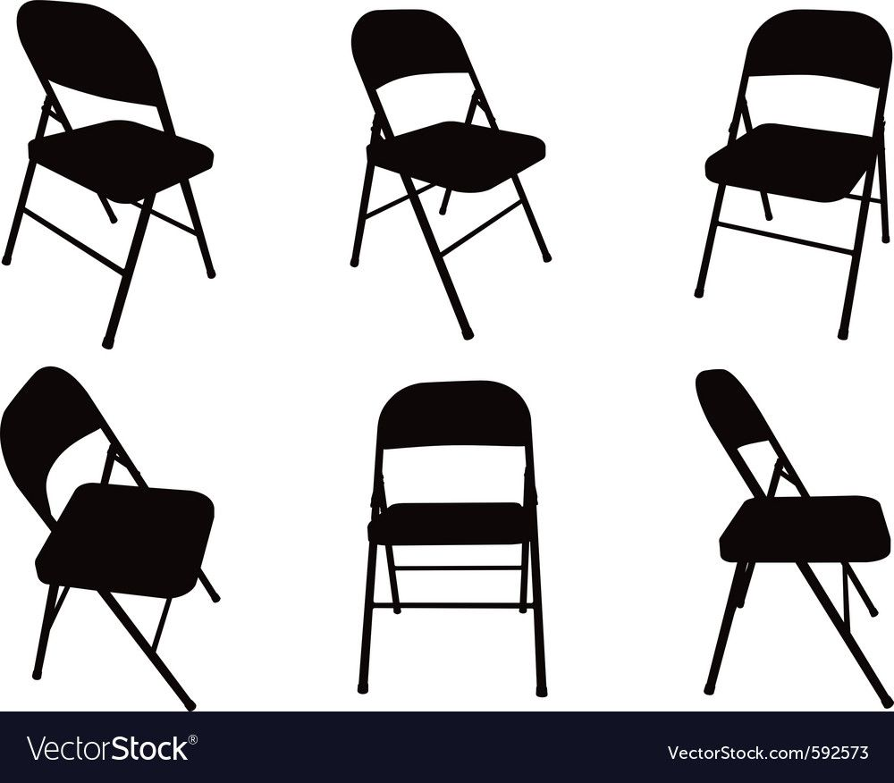 Chair Silhouette Royalty Free Vector Image Vectorstock Affiliate Royalty Silhouette In 2020 Metal Folding Chairs Folding Chair Shabby Chic Table And Chairs