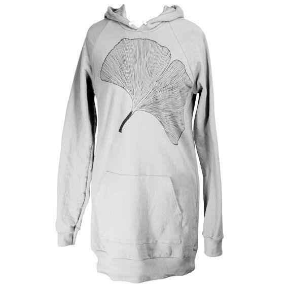 More of my beloved Ginkgo...on a hoodie dress!