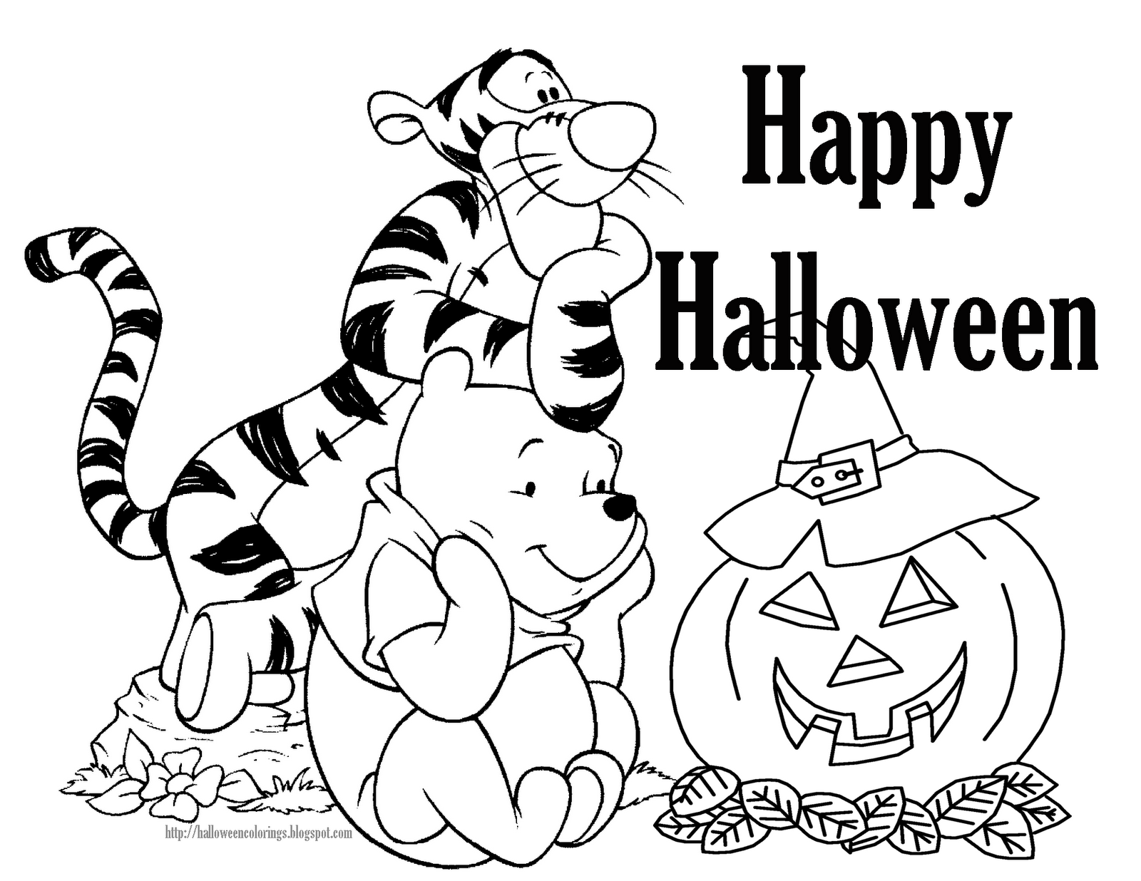 Halloween coloring printables disney - Free Disney Halloween Coloring Pages
