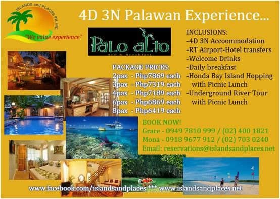 Puerto Princesa Palawan Tour Package At Palo Alto Bed And Breakfast