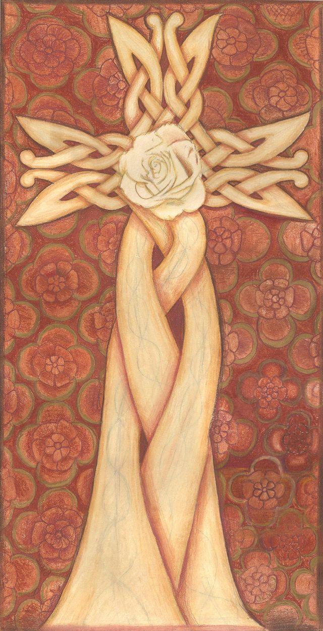 Celtic cross design in colored pencil | My Art | Pinterest | Cross ...