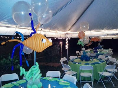 sweet 16 under the sea centerpieces - Google Search