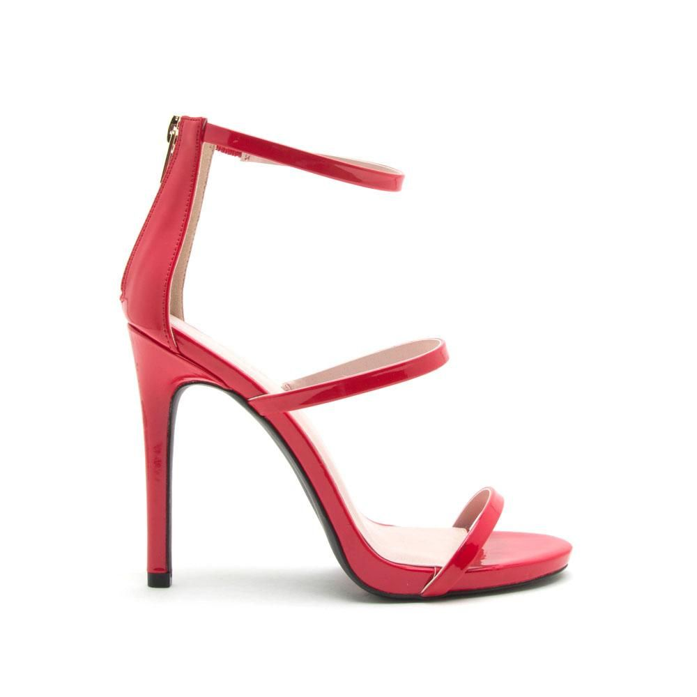 bf8c15c61fe Cece-16X Red Triple Band Heels | Products | Stiletto heels, Heels, Band