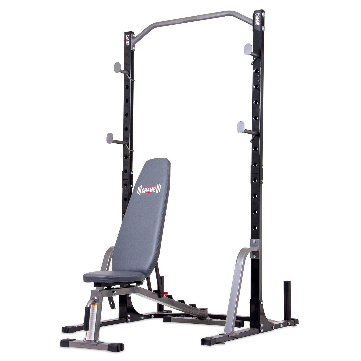 Body champ power rack system with bench set