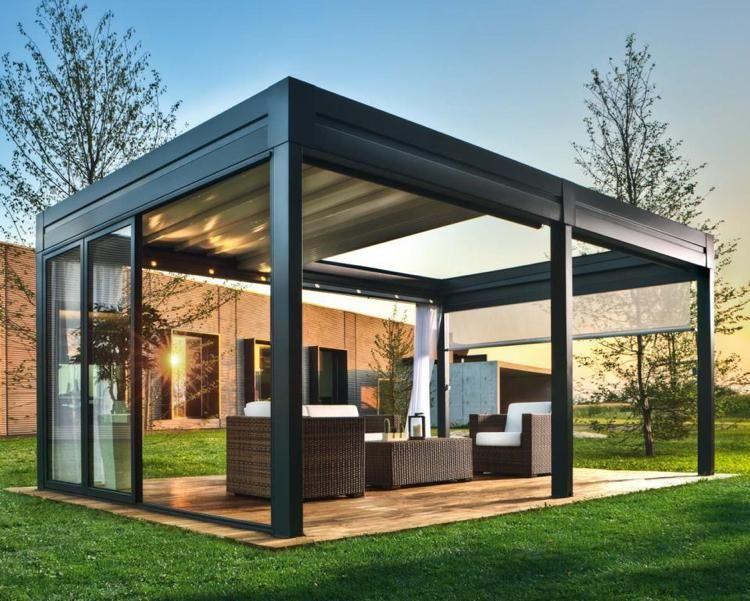 40 id es de pergola avec rideaux moderne dans le jardin rideaux modernes pergola et id es pergola. Black Bedroom Furniture Sets. Home Design Ideas