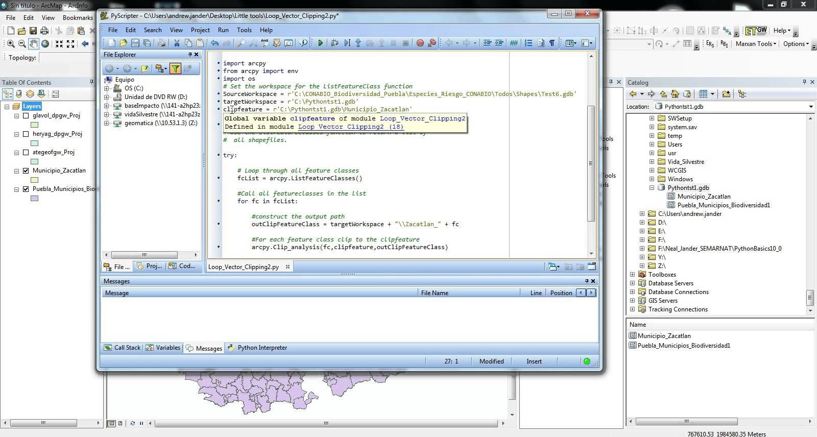 Looping Using Python in ArcGIS 10 | Geospatial / GIS in 2019