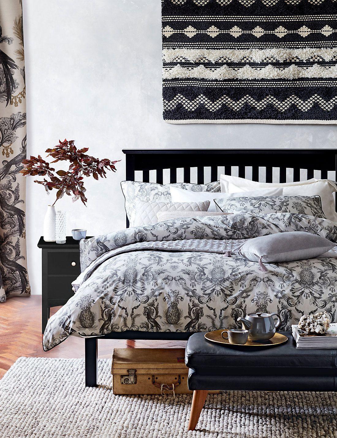 Marks And Spencer Bedroom Furniture Talia Pineapple Print Bedding Set Mars Marks Spencer And