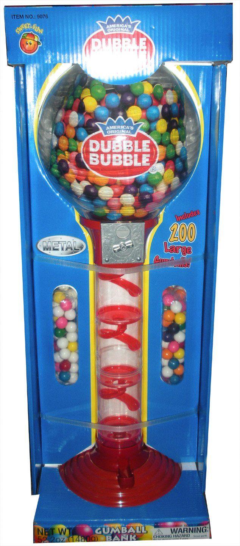 "200-Piece 24/"" Sweet N Fun Metal Gumball Bank with Gumballs"