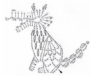 Crochet wolf applique free pattern