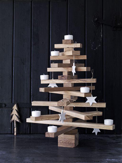 rbol navidad con madera - Arbol De Navidad De Madera