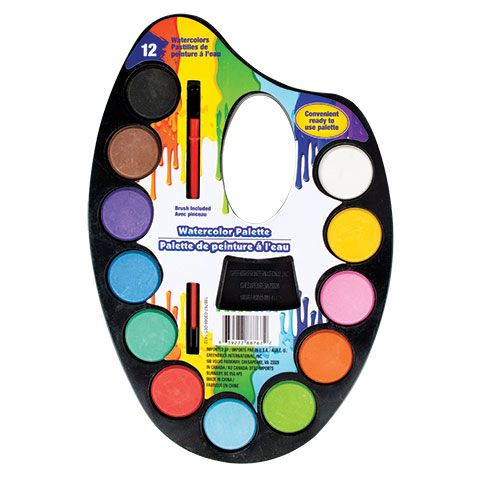 Bulk 12 Color Watercolor Paint Palette Sets At Dollartree Com