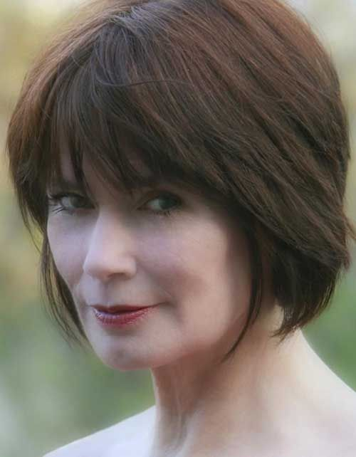 Short Simple Bob Hairstyles For Women Over 50
