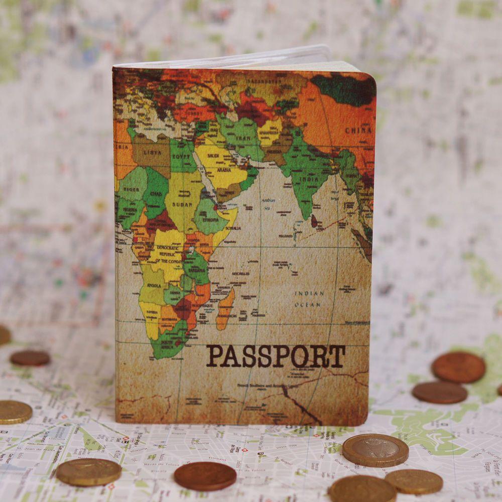 passport holder map vinyl cover document id travel case protector