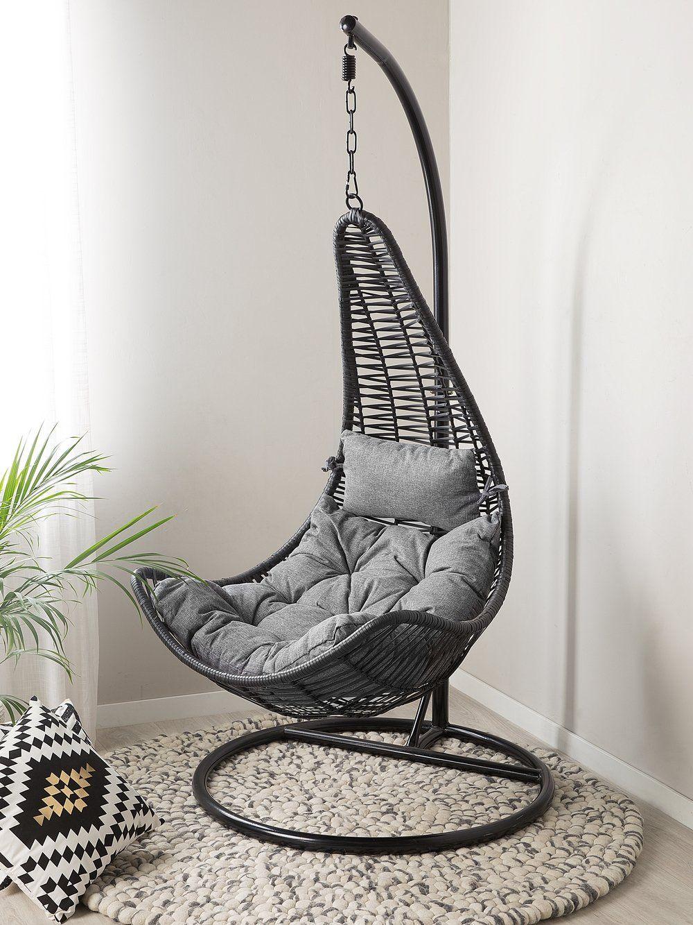 fotel ratanowy wiszący