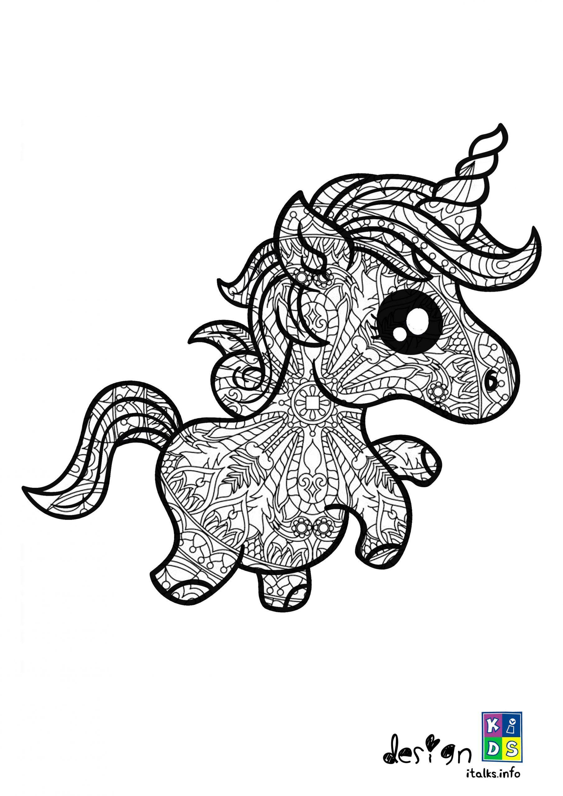 Unicorn Mandala Coloring Page Special For Kids Kleurplaten