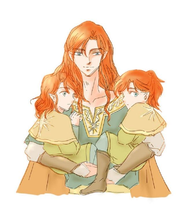 Maedhros, Amrod and Amras/// Just discovered today that Feanor burned Amrod to death in a ship at Losgar, so I'm trying to look at Ambarussa pictures to try and cheer myself up. It's not helping. :/