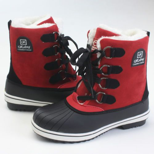 New-Womens-Fashion-Lace-Up-Hidden-Wedge-With-Faux-Fur-Winter-Snow-Boots-5colors