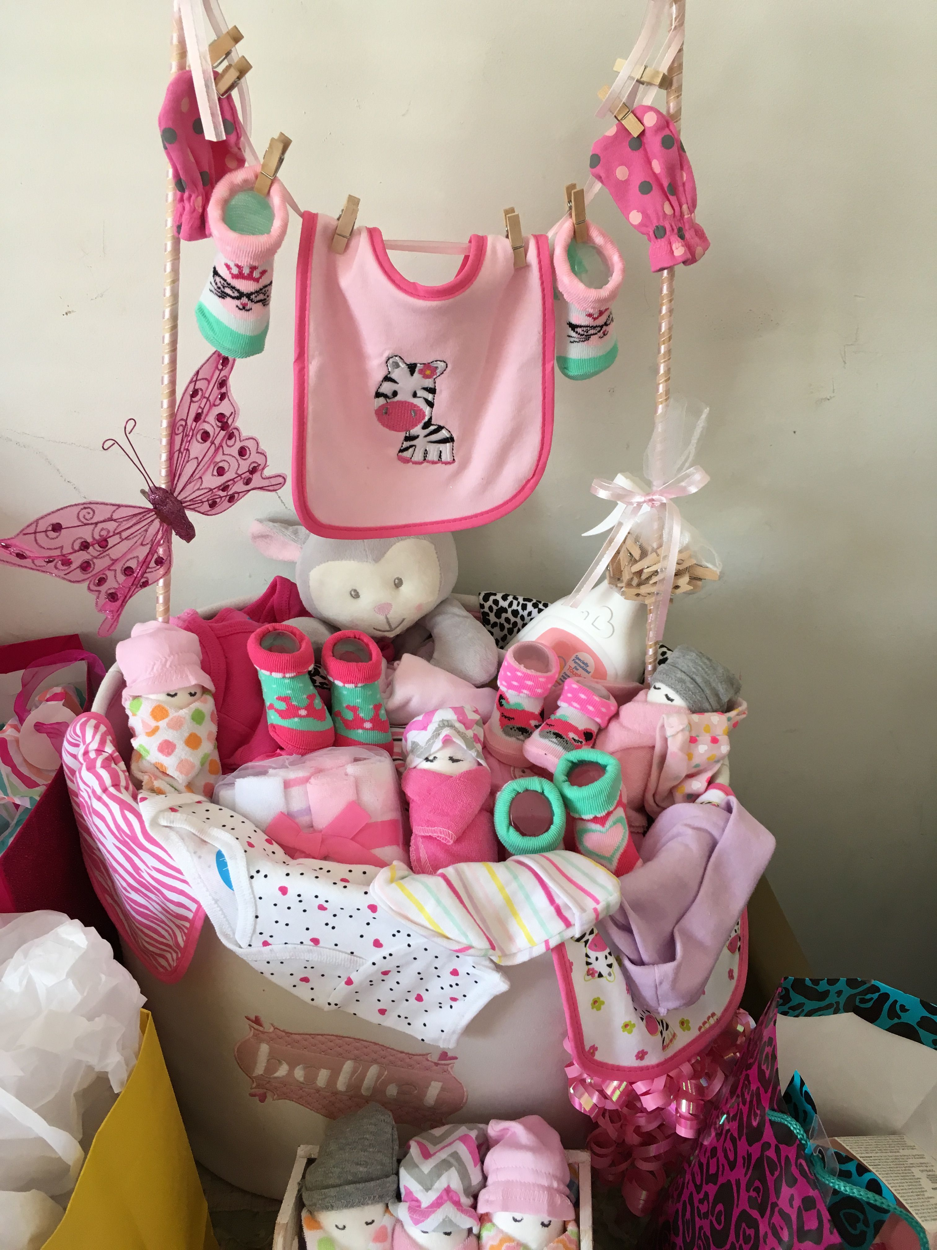 Baby clothes basket diaper gift cute baby shower gifts
