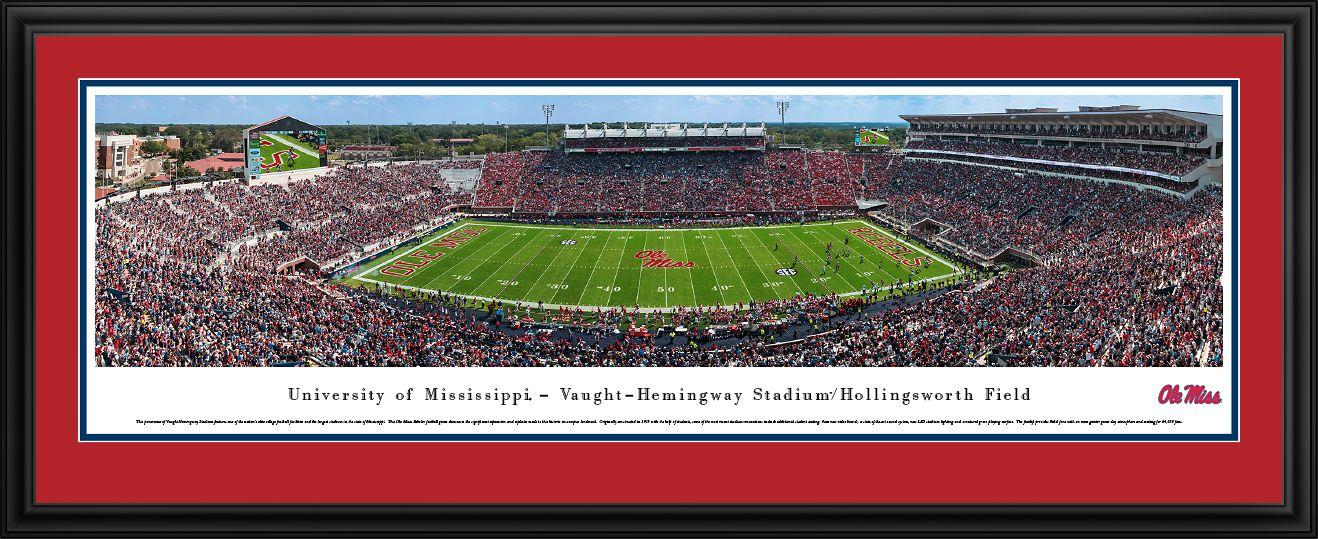 Ole Miss Rebels Mississippi Football Panorama Vaught Hemingway Stadium Panoramic Picture Panoramic Pictures Panoramic Print Panoramic