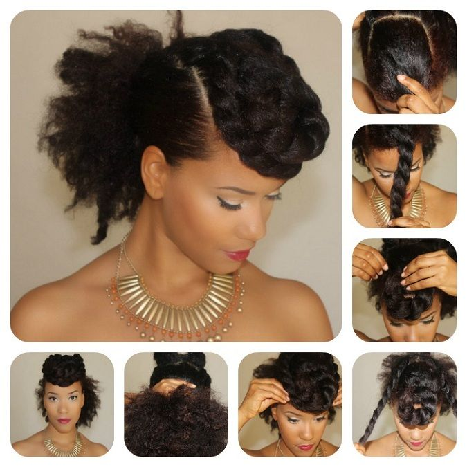 Twisted Updos For Every Occasion The Layer Natural Hair Tutorials Hair Styles Curly Hair Styles