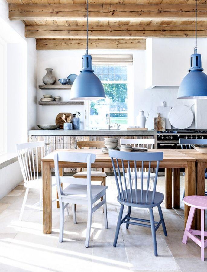 Cocina con mesa comedor | Home & Clutter | Pinterest | Comedores ...
