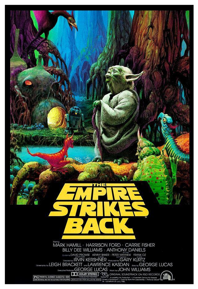 El Imperio Contraataca - con impresión de película de Yoda - 13 x 19 ...