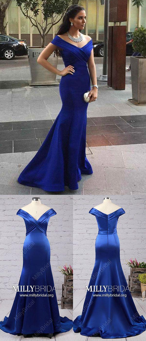 Long prom dressesroyal blue formal evening dresses modestmermaid
