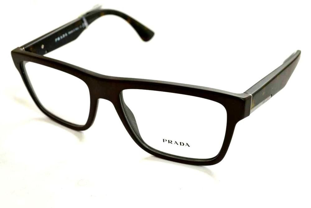 089426f2c67 PRADA Matte Brown Men s Eyeglasses VPR 07S TFD-101 56 mm Made In Italy 🇮🇹   PRADA